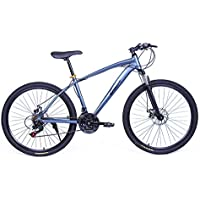 Riscko Bicicleta Mountain Bike de Aluminio Modelo Explorer con Ruedas de 26'' (Plata)
