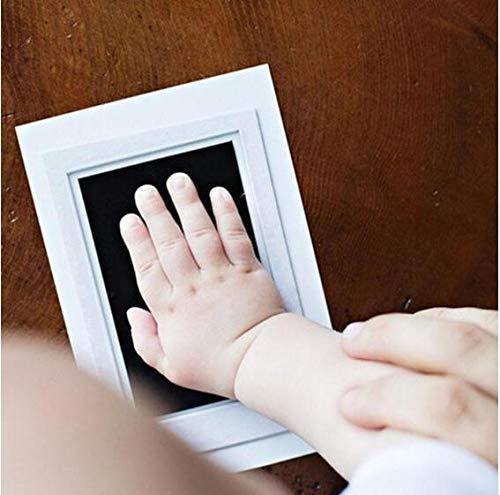 Baby wiederverwendbar sicheres Handwerk ungiftig Handabdruck Fußabdruck Kleinkinder A
