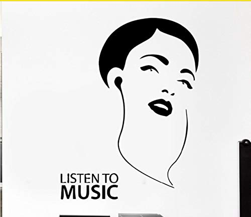 -Aufkleber-Kopfhörer-Musik-Felsen-Pop-Art Für Wohnzimmer ()
