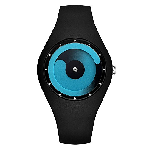 JIUZHOU Bonbonfarbene Nicht - Zeiger Uhr Silikon Männer Frauen Mode Kreative Uhren