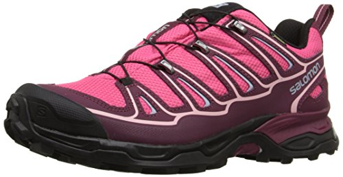 Salomon X Ultra II GTX Damen Trekking &Wanderhalbschuhe Pink (Hot Pink/Bordeaux/Pebble Blue)
