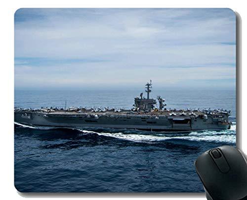 Mauspad mit genähtem Rand, Militär USS Carl Vinson (CVN 70) Kriegsschiff-Mauspad, Rutschfeste Gummibasis Mousepad