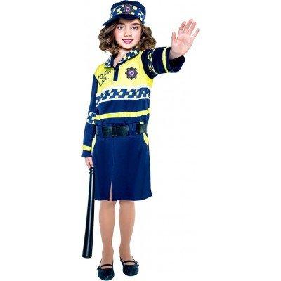 Imagen de disfraz de policía local para niña