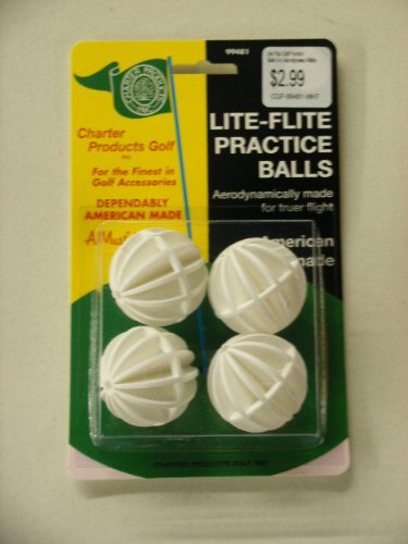Lite Flite Golf Practise Balls 4 ct Aerodynamic White