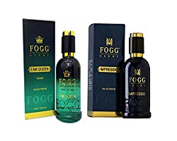 COMBO PACK OF FOGG IMPRESSIO PERFUME 90 ML + FOGG I AM QUEEN PERFUME FOR WOMEN 90 ML