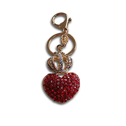 Herz mit Krone The Queen of my heart Schlüsselanhänger in einer Luxus Geschenk Tasche niedliche Geschenk aus Liebe Schöne Kristall Strass Charm Schlüsselanhänger Perfekte Geschenk für jeden Anlass