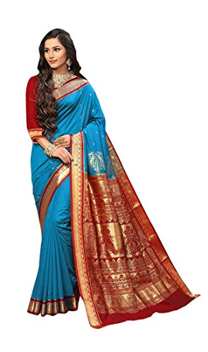 Craftsvilla Silk Saree With Blouse Piece (MCRAF46536832090_Blue_Free Size)