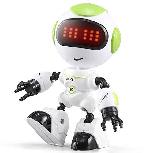 (AOLVO sprechende Roboter-Set für Kinder, Mini-Roboter, Lernspielzeug, Vorschul-Lern-Roboter-Spielzeug, DIY Form für Jungen und Mädchen grün)
