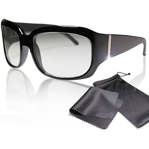 Gafas 3D nobles pasivas para RealD - Alta calidad - Polarizadas circular - Con estuche y paño de microfibra - Compatible con Cinema 3D de LG, Easy 3D de Philips, televisores 3D con polarización circular de Toshiba, Grundig, Sony, Panasonic y RealD en los cines - No Gafas 3D activas - No Active