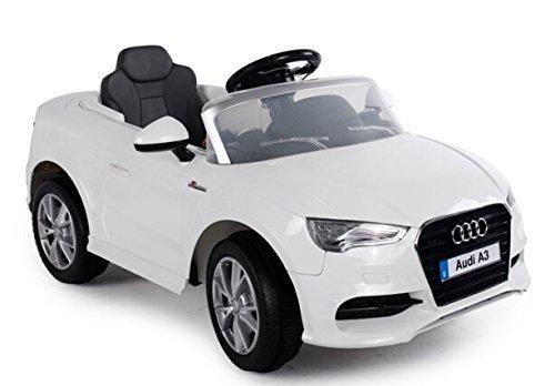 Kinderfahrzeug - Elektro Auto Audi A3 - lizenziert - 2x 6V4.5AH Akku, 2 Motoren- 2,4Ghz ferngesteuert, mit MP3- weiss