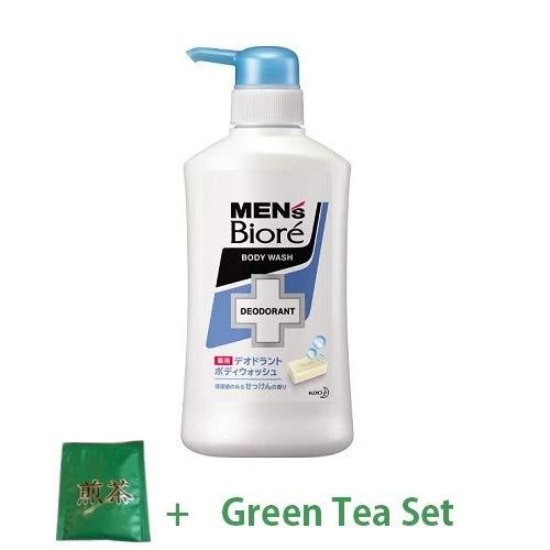 Kao Men's Biore Medicinal Deodorant Body Wash 440ml - Soap Scent (Green Tea Set) -