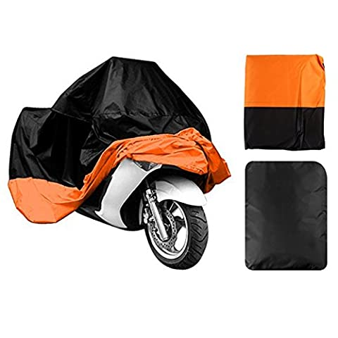 Lifees Indoor/Outdoor Motorcycle Cover Lifetime Limited Warranty Reflective Waterproof UV Protection Heat - Moisture Guard Vent Sportbike(Orange,