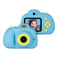Upgrow Creative Kids Digital Camera Rechargeable Kids Cameras 2 inch Screen HD Video Action Camcorder Christmas New Year Birthday Festival Toy Gift for Children Boys Girls (Blue)