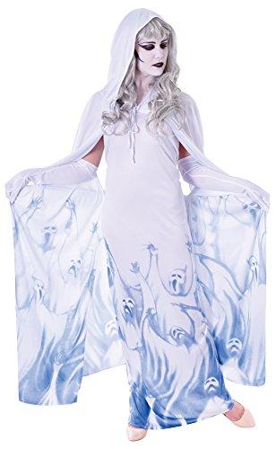 Bristol Novelty ac369Ghost Soul Seeker, Kostüm, weiblich, UK Größe 10–14