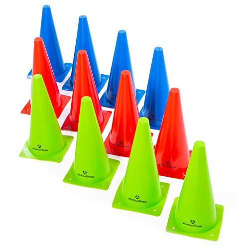 #DoYourFitness® Markierkegel/Pylonen - Größe der Kegel 15cm, 23cm o. 30cm - Stückzahl 1/3 / 6 - Markierungshüttchen für Koordinations- / Agilitytraining : 3X Medium (grün) -
