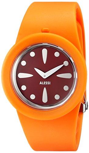 Alessi AL1001 - Reloj analógico automático unisex, correa de plástico color naranja