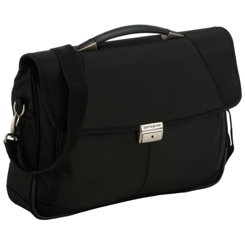 "Samsonite Cartella Intellio Briefcases Briefcase 1 Gusset 16"" 14.5 liters Nero (Black) 56331-1041"