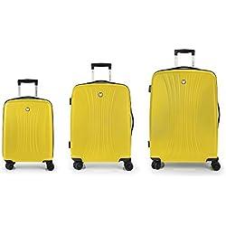 Set 3 Maletas C22-M-L Gabol Fit Amarillo