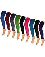 1 bis 9 Damen THERMO Leggings mit Innenfleece extra warm Innenfutter Fleece Leggins Schwarz Rot Blau Braun Grau Grün Jeans Pink Lila Petrol - sockenkauf24