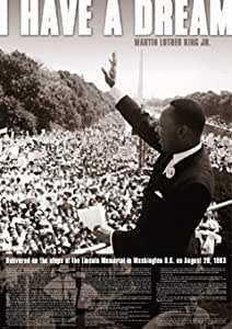 Grande affiche plastifiée I Have a Dream Speech Martin Luther King POSTER dimensions 36 x 24 inches (91.5 x 61cm)