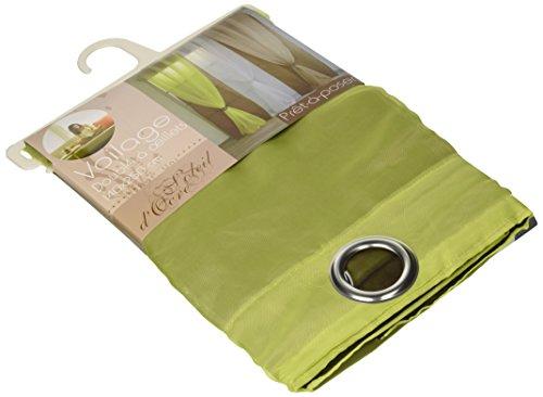 Soleil d'ocre tenda in voile anice con occhielli, verde
