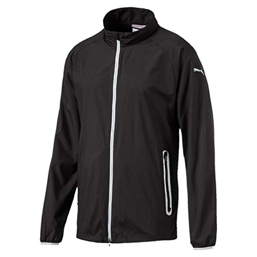 PUMA Herren Full Zip Wind Jacket Windbreaker, Black, L -