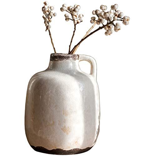 t Glasur kleinen Mund Keramik handgefertigte Steinzeug antike alte Vase Blume Blume einfügen handgefertigte Art Style Geschenk ()