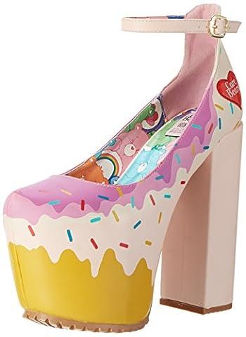 Iron Fist Women's Donut Care Bear Super Platform Heels, Pink