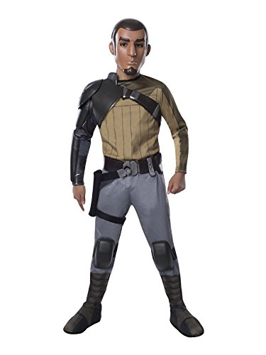 Star Wars Rebels Kanan Kinderkostüm Lizenzware grau olivgrün L (Star Wars Rebels Kanan Kostüm)