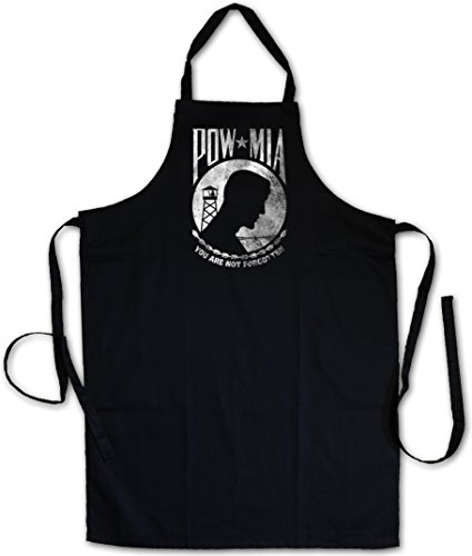 Urban Backwoods POW MIA Vintage Logo GRILLSCHÜRZE KÜCHENSCHÜRZE KOCHSCHÜRZE SCHÜRZE - Prisoner of USA War Army Navy Marines Soldier US -