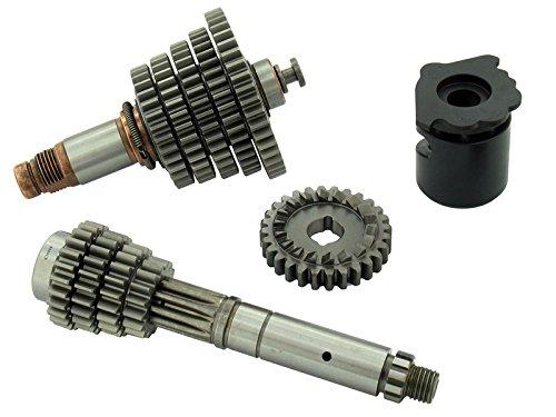 AKF 5-Gang Getriebe komplett, lang, mit optimierter Ziehkeilwelle - für Simson S51, S70, KR51/2 Schwalbe, SR50, SR80