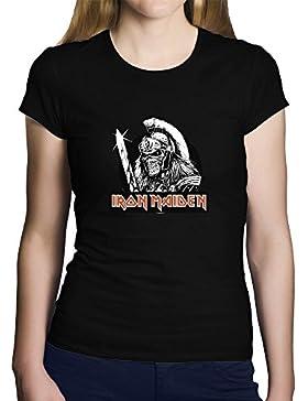 OKAPY Camiseta Iron Maiden. Una Camiseta de Mujer con un Esqueleto Guerrero de Iron Maiden. Camiseta Friki de...