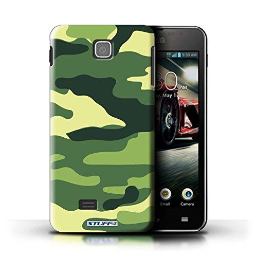 Kobalt® Imprimé Etui / Coque pour LG Optimus F5/P875 / Marron 1 conception / Série Armée/Camouflage Vert 2
