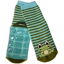 Weri Spezials Voll - ABS Socke, Frosch Motiv in Blau-gruen