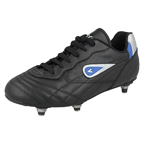 Mitre Boys Screw in Football Boots Galaxy - Black Synthetic - UK Size 13 - EU Size 32 - US Size 14