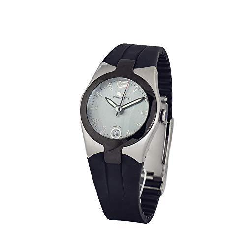 TIME FORCE Reloj Analógico para Unisex Adultos de Cuarzo con Correa en Caucho TF2515B-04