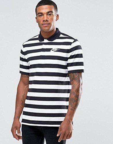 Nike M Nsw Polo Pq Strp Bld Mchp - Polo Herren, Farbe Blau, Größe Schwarz
