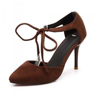 Moda Donna Sandali Sexy donna tacchi Primavera / Estate / Autunno Comfort PU Casual Stiletto Heel Lace-up Nero / Giallo / Rosso Altri Black
