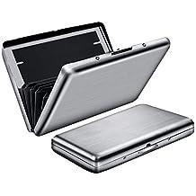 Cartera bloqueadora RFID, Welltop Protector de tarjeta de metal sin contacto para hombres Mujeres,