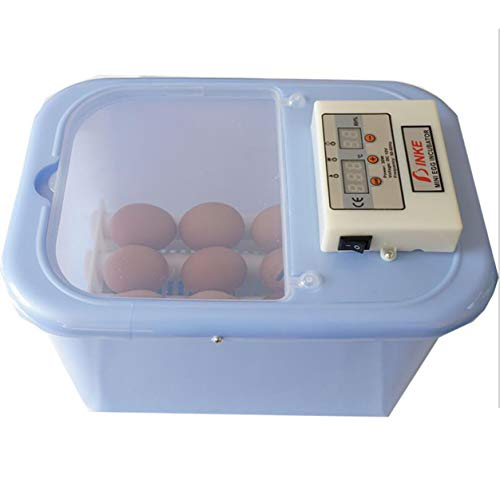 JAKROO (16 Uova) Dispositivo Automatico per l\'alimentazione del Pollo da incubatore Digitale di incubatrice Rotante dell\'incubatore,Blue