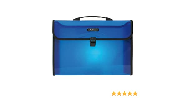 Plus Office 180216/ /Valigetta 2/scomparti per A4 colore blu traslucido