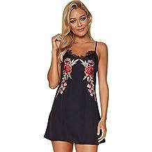 vestidos de fiesta cortos Switchali moda vestidos verano mujer floral Sin mangas Mini vestido de novia vintage casual de las mujeres de senora atractivo Vestidos para mujer baratos