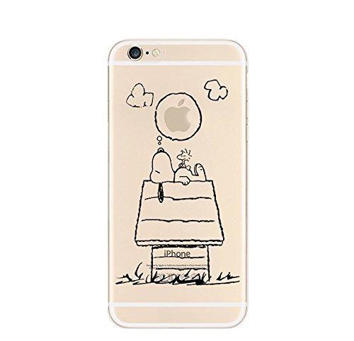 licaso® iPhone TPU Hülle Disney Case transparent klare Schutzhülle Disney Hülle iphone6 Tasche Case (iPhone 6 6S, Snoopy träumt)