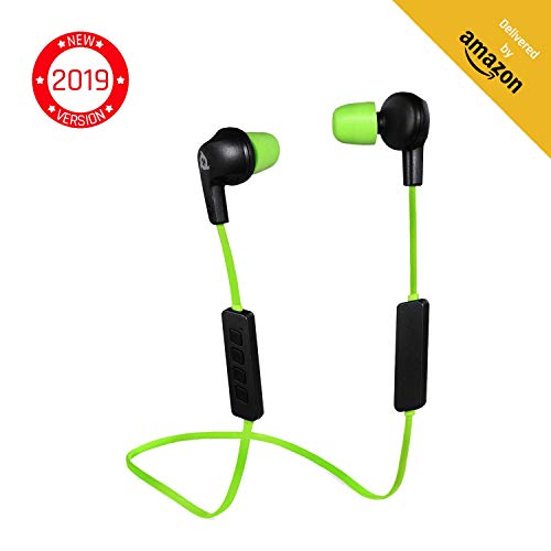 KLIM Pulse Auricolari Bluetooth 4.1 Cuffie Auricolari wireless - Riduzione Rumore - Perfette per Sport, Musica, Chiamate Telefoniche, Gaming, Magnetiche...