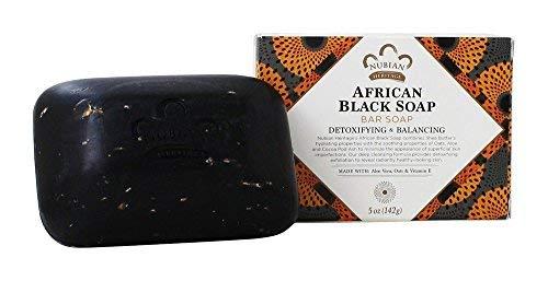 Nubian soap african black soap with oats, aloe e vitamina e 140g