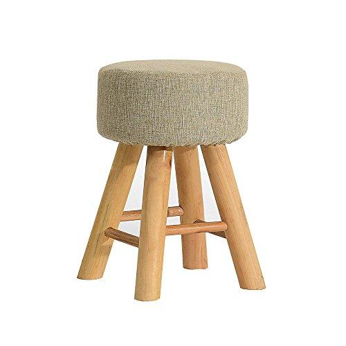 Hocker Holz Runde Tuch Kunst Kurz Dressing Esstisch Kleine Bank Für Erwachsene Tisch 29 × 29 × 42cm (Farbe : Gray, größe : A Set of 1) - 42 Runde Esstisch