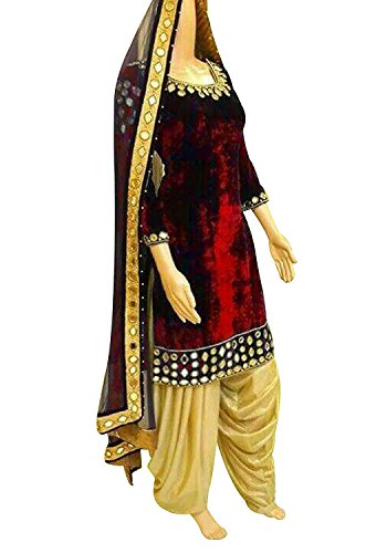 FKART Women's Velvet Latest Designer, Party Wear, Traditional, Multi Color Straight Semi-Stitched...