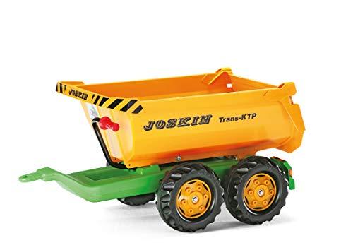 Rolly Giant Half-Pipe Joskin Eje Doble Trailer - Manillar Asistido Acción - Puede Ser Adjunto a la Espalda de Cualquiera Rolly Tractor - Joskin Oficial - Doble Eje - Dimensiones Del Artículo: 89X 45X 43CM