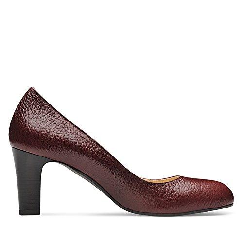Cuir Shoes Bordeaux Escarpins Grainé Evita Bianca Femme I6qwzzf
