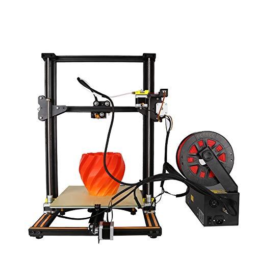 Zhaorll creality cr-10s stampante 3d ad alta precisione di grandi dimensioni, rilevamento interruzioni, stampa con memoria di spegnimento, doppia vite, nuova stampante con tecnologia brevettata,black